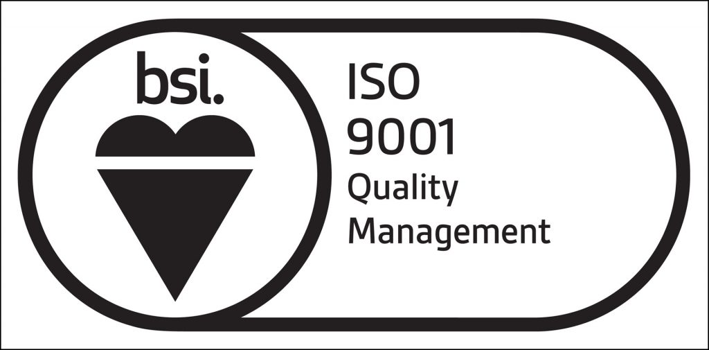 We've obtained ISO 9001 certification